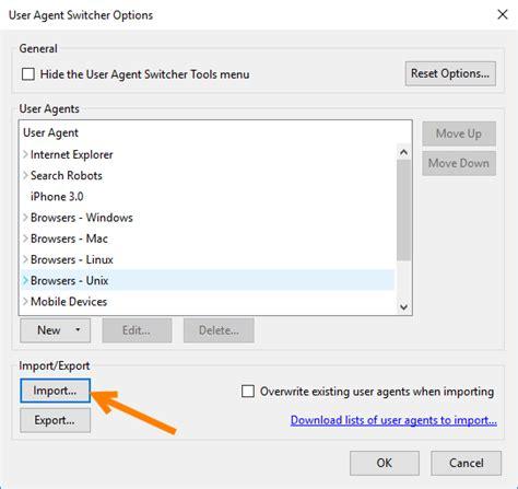 user agent selenium webdriver change agents edit tools go