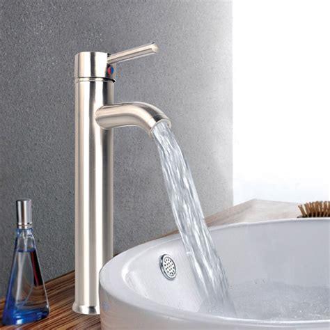 bathroom kitchen  tall single handle tub water channel