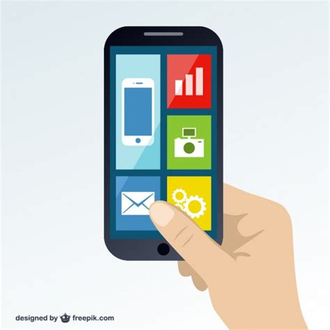 modern smartphone vector vector free smartphone screen with icons vector free