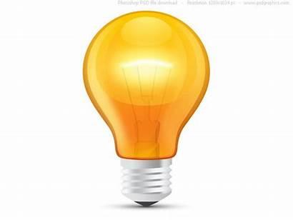 Lightbulb Template Bulb Orange Clipart Icon Clipartpanda