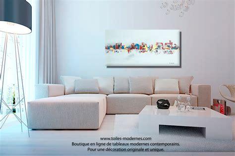 canapé bois et chiffon prix tableau gris moderne ville format horizontal pièce unique