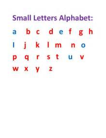 Small Alphabet Letters
