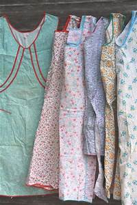 Lot Vintage Kitchen Smock Coverall Full Aprons Pretty