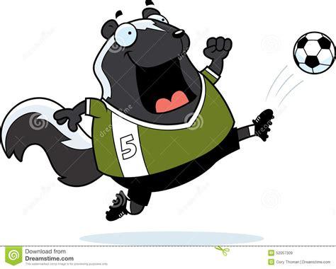 Cartoon Skunk Soccer Kick Stock Vector