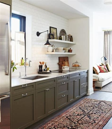 Olive Green Kitchen Cabinets