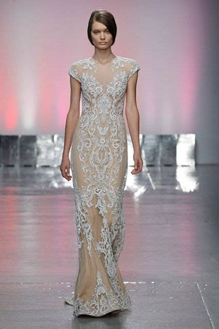 key bridal trend   nude lace wedding gowns