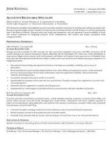 accounts receivables resume template free accounts receivable clerk resume exle