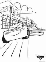 Coloring Cars Disney Race Crayola Pages sketch template