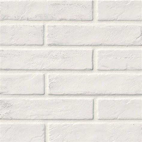 white brick tile kitchen room scene capella white brick porcelain flooring