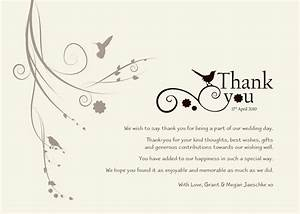 wedding thank you templates free standard greeting card With thank you notes for wedding gifts templates