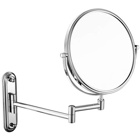 Retractable Mirror Bathroom by Bathroom Wall Retractable Folding Magnification Mirror