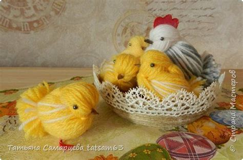 chickens   yarn yarns birds  diy  crafts