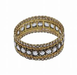 buccellati diamond gold wedding band ring for sale at 1stdibs With buccellati wedding rings