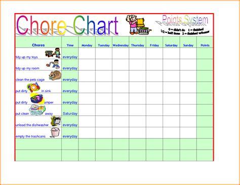 Chore Chart Template Chore Chart Template Authorization Letter Pdf