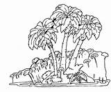 Rainforest Coloring Jungle Forest Trees Tree Easy Rain Tropical Drawing Plants Pages Getdrawings Scene Popular sketch template