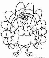 Coloring Thanksgiving Turkey Pages Thankful sketch template