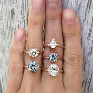 Tiffany Ring Verlobung : grey white moissanite twig engagement rings in rose gold by kristin coffin jewelry smykker ~ Orissabook.com Haus und Dekorationen