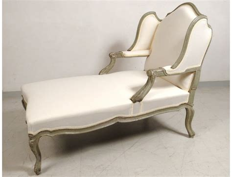 chaise longue en bois deck chair louis xv carved lacquered wood duchess broken