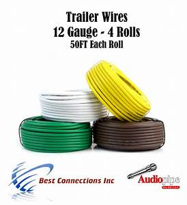 4 Rolls 12 Gauge 50 Feet Trailer Light Cable Wiring