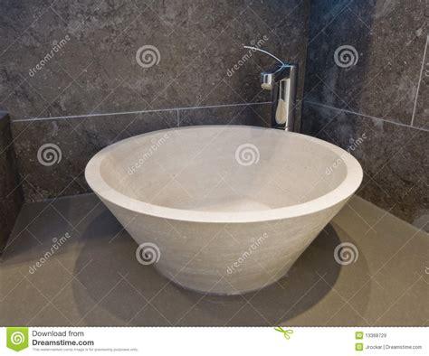 Stone Hand Wash Basin Royalty Free Stock Images