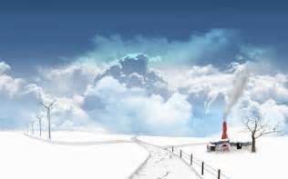 Anime Winter Scenery