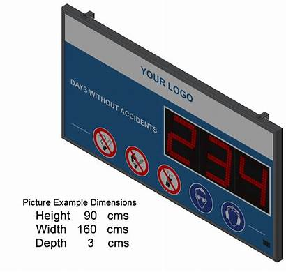 Display Accident Panel Dimensions Led Displays Sizes