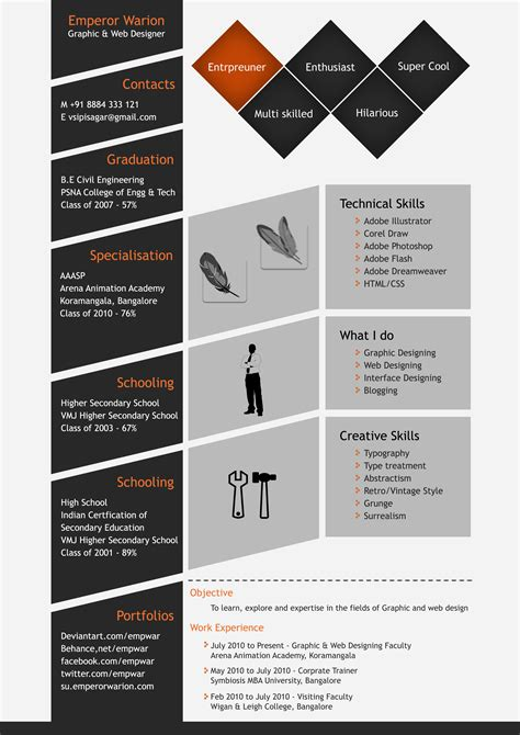 creative  unique psd resume template open resume