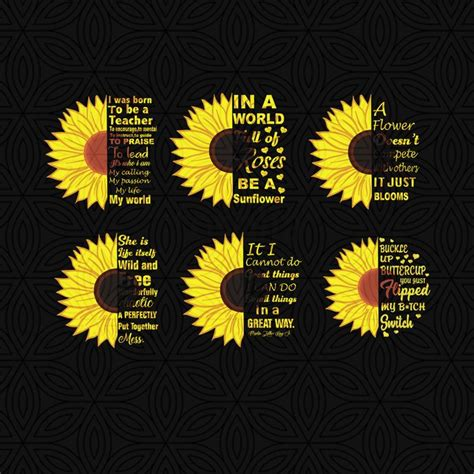 svg mega sunflower bundle  sunflower quotesbundle svg summer svg sunflower svg