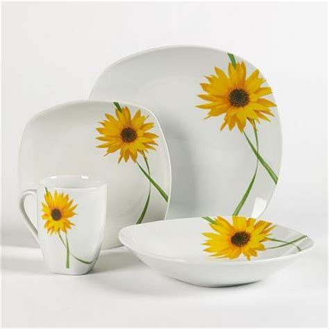 images  sunflower dishes  pinterest