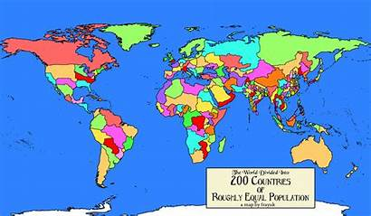 Countries Population Divided Into Equal Every Country