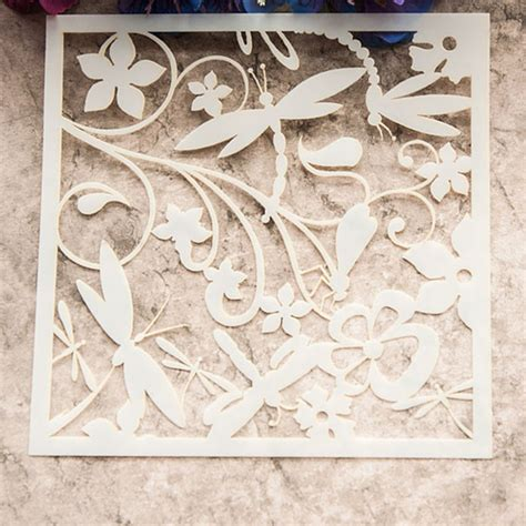 Flower Stencil Scrapbooking Cutting Dies Diy Album Paper