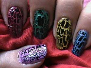 How to use crackle nail polish ? * Crack Nails Tutorial ...