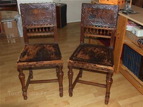 chaise cuir et bois chaise en bois ancienne mzaol com