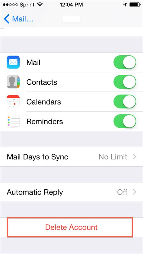 iphone change email password removing your hosted exchange account from an iphone