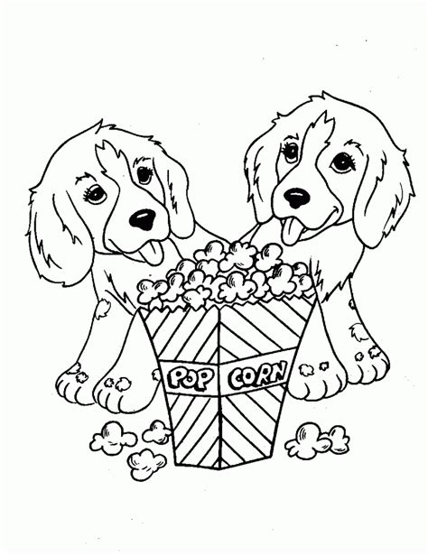 printable dog coloring pages  kids