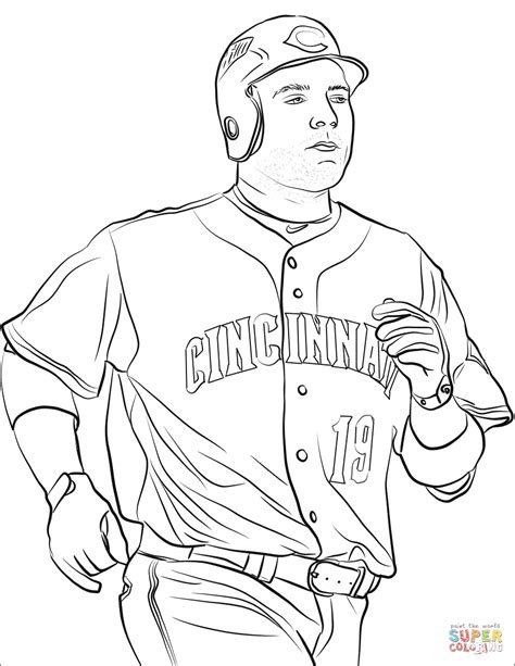 joey votto coloring page  printable coloring pages