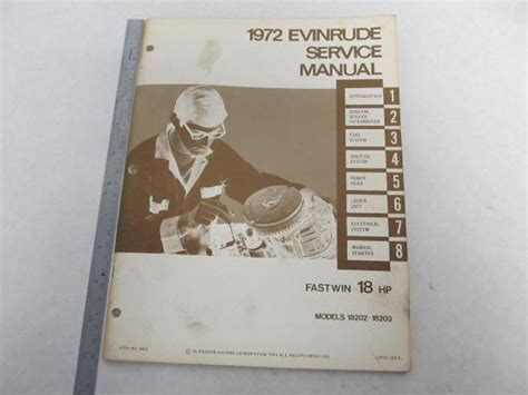 4815 1972 Evinrude Outboard Service Manual 18 Hp Fastwin