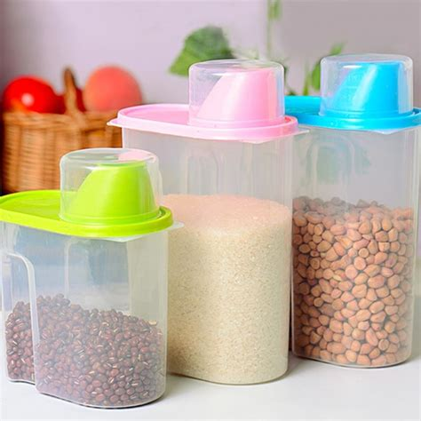 plastic kitchen storage containers new 1 6l plastic jar kitchen storage containers 17 4272
