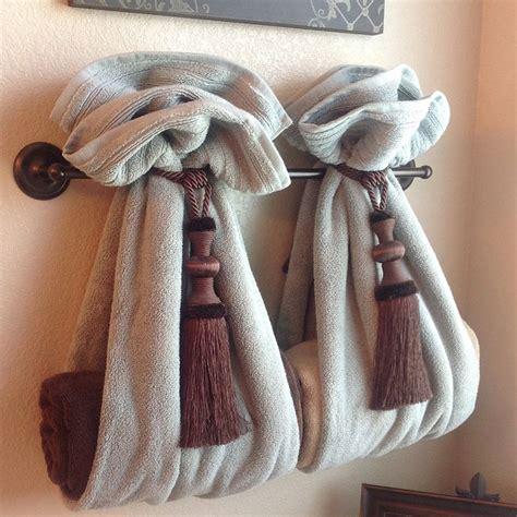 bathroom towels decoration ideas diy decorative bath towel storage inspiration two