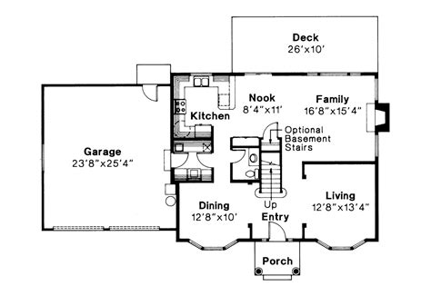 Colonial House Plans - Westport 10-155 - Associated Designs