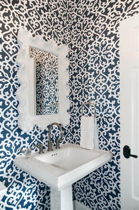 white  navy bathrooms transitional bathroom dave