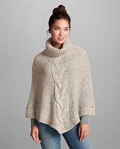 Women's Cable Poncho Sweater | Eddie Bauer. I can so knit ...