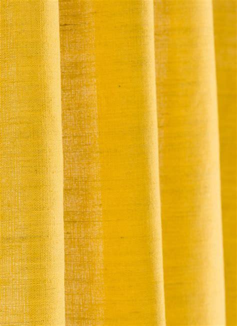 jute rideau en toile jaune
