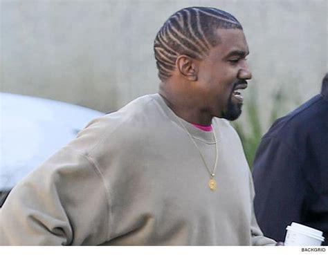 kanye west shows   hairstyle tmzcom