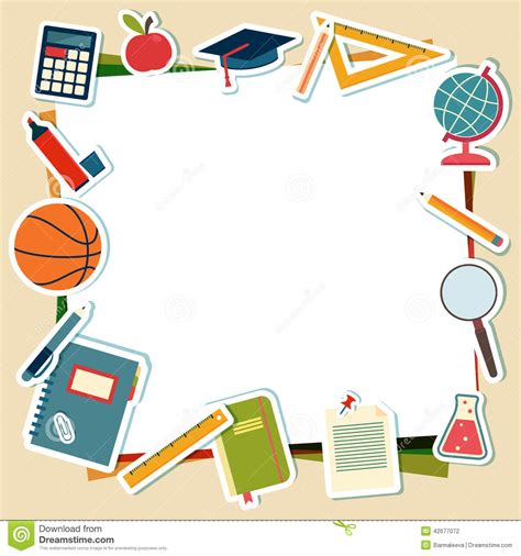 illustration de vecteur des fournitures scolaires  des outils illustration de vecteur