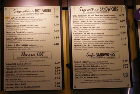 ᐅ Panera Bread® Menu Prices for Today [SAVE $$]
