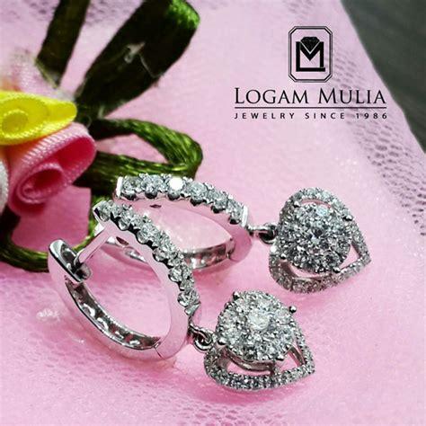 jual anting berlian wanita ara e102678b logammuliajewelry