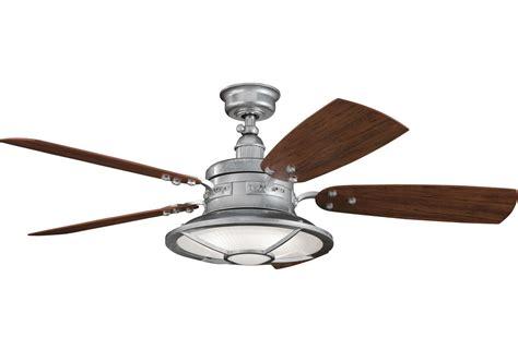 long downrod ceiling fan kichler 310102gst galvanized steel 44 quot outdoor ceiling fan