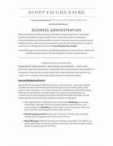 business administration resume With business administration resume examples