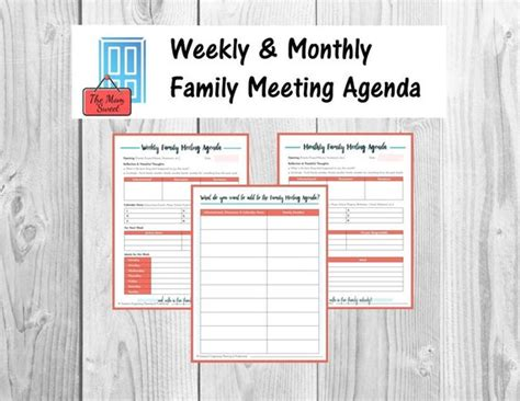 Use these sample agendas to help make your meetings more effective. Family Meeting Worksheet